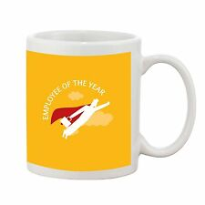 Employee of the Year Superhero Mug Staff Office Novelty Gift Earthenware