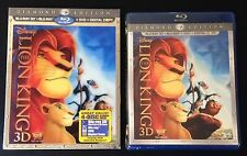 The Lion King 3D Blu-Ray 4-Disc Diamond Combo Digital Copy Lenticular SlipCover.