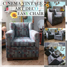 VINTAGE MID CENTURY MODERN CINEMA EASY CHAIR SESSEL FAUTEUIL ART DECO BAUHAUS ÈR
