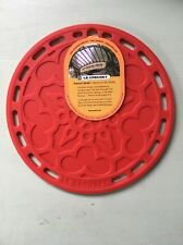 """Le Creuset Silicone 8"""" Round French Trivet, Cherry!  New! Nwt! FREE SHIPPING!"""