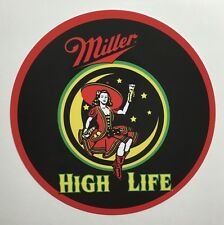 Miller High Life 1954 Girl In The Moon Metal Sign
