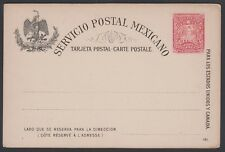 MEXICO, 1897. Post Card  H&G 88, Mint