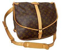 Authentic LOUIS VUITTON Monogram Popular Shoulder Bag Saumur 35 Excellent M740