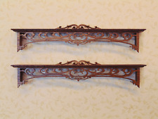 Dollhouse 1:12 Scale Set of mahogany double window cornices - Artist Made