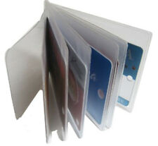(2) Clear Sleeves Plastic 6 page Insert Replacmet Credit Card Holder Bifold