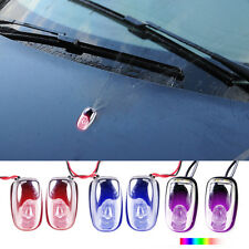 Universal 2pcs Colorful LED Light Windshield Washer Wiper Jet Water Spray Nozzle