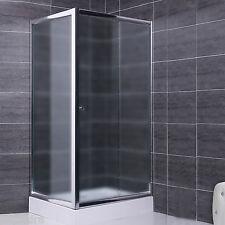 Box doccia parete fissa e porta scorrevole in vetro cristallo 6 mm opaco 75x110