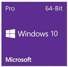 Microsoft Windows 10 Pro 64 bit-DVD-1 License COA- OEM Full Version Profess