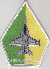 VFA-102 DIAMONBACKS GREEN / YELLOW COFFIN SHOULDER PATCH