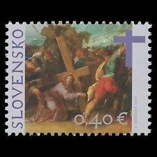 Slovakia 2012 - Christ Carrying Cross by Von Aachen Painting Art - Sc 634 MNH