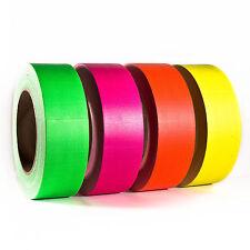 Neonklebeband Neon Gaffa Set Bunt Handreißbar 50 mm x 25 m 4 Rollen