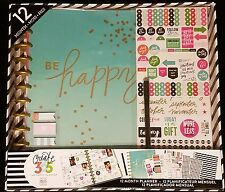 Create 365 Big Be Happy Planner Box Kit Set Undated Limited Edition Stickers
