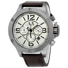 Armani Exchange Wellworn Chronograph Taupe Dial Mens Watch AX1519