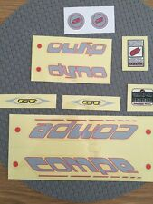 NOS GT DYNO COMPE DECALS BMX MIDSCHOOL ORIGINALS Cycle Design RARE
