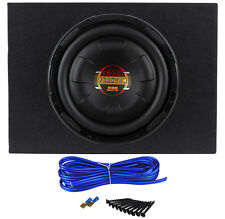 "Boss D10F 10"" 800 Watt Shallow Car Audio Subwoofer + Sealed Sub Box Enclosure"
