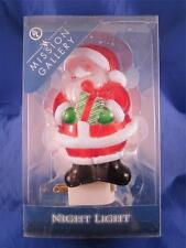 Holiday Christmas Santa Claus Acrylic Night Light Decoration Mission Gallery NIB