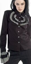 NEW RARE LIP SERVICE BLACKLIST TOP SHIRT M GOTH STEAMPUNK BLACK TALES VICTORIAN