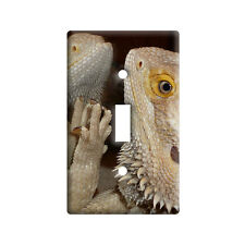 Bearded Dragon in Mirror - Beardie - Wall Toggle Light Switch Plate Cover