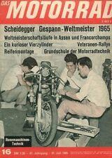 M6516 + Militor + Dutch-TT in Assen + Das MOTORRAD Nr. 16 vom 31.7.1965