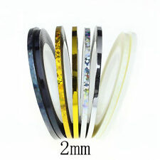 2mm Nail Art Striping Roll Tape Line Transfer Nail Sticker Nail Tip Decoration
