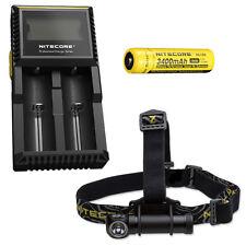 Combo: Nitecore HC30 Headlamp w/ D2 Charger & NL189 Battery