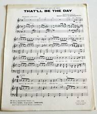 Partition vintage sheet music LINDA RONSTADT / BUDDY HOLLY : That'll Be The Day