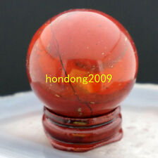 NATURAL RED RIVER JASPER crystal ball healing SPHERE 40MM + STAND