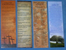 LOT OF 4  Spanish Espanol  CHRISTIAN BOOKMARKS