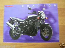 K077 KAWASAKI  BROCHURE PROSPEKT FOLDER ZRX 1100 DUTCH 4 PAGES