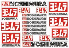 Yoshimura Decals Stickers for Exhaust Graphic Set Vinyl Adhesive 18 Pcs White