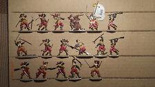 17 Zinnfiguren - Musketier im Kampf 1630 (Verschiedene) einfache Samlerbemalung