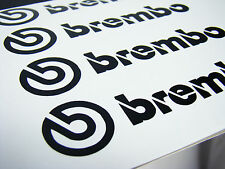 4x 75MM BREMBO BLACK BRAKE CALIPER DECALS STICKERS HIGH TEMP
