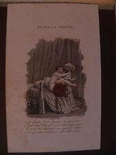 M Erotismo erotica acquaforte originale 1840  erotic sex La mala notte erotism
