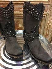 Liberty Black New Size 9.5 Short Studded Boot Cowboy style LB711511 Retail 279.