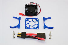 Traxxas Slash 4X4 LCG Upgrade Parts Alu Motor Heatsink With Cooling Fan - Blue