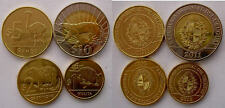 URUGUAY S 2011-2012 NUOVA SERIE 4 MONETE CON BIMETALLICA 10$   5$ 2$ 1$ FDC