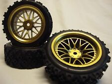 Wheels and Tires 26m -for HPI RS4 Rally, Tamiya TT01 TT02, MST XXX Rally, 4-tec