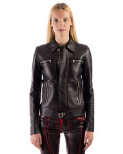 DIESEL BLACK GOLD Size 38 / XS Women's LABOL 100% Leather Jacket Made in Italy