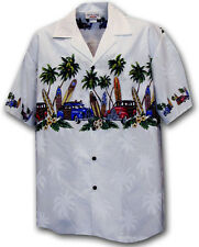 Cars Motorcycle American Engine Route 66 Hawaiian Aloha Shirt (Made in Hawaii)
