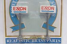 2 enseignes éclairées statiques Exxon station service essence 7cm MP-705 HO 1/87