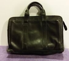 Kenneth Cole Reaction Leather Briefcase Laptop Messenger Bag (Distressed Damaged