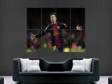 LIONEL MESSI BARCELONA FC  FOOTBALL IMAGE ART WALL LARGE IMAGE GIANT POSTER