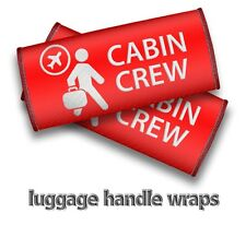 CABIN CREW Luggage Handle Wrap-RED X2