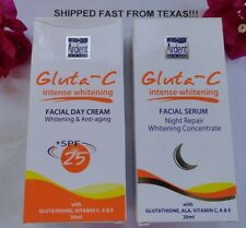 Set Gluta C Skin Whitening Facial White Day & Night Face Cream Lightening