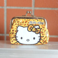 Mini Lepard Hello Kitty Heart Pouch METAL Coin Bag Purse Wallet Lady Girl Gift