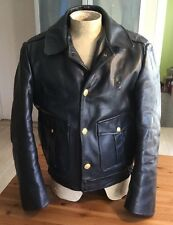 Vintage Chicago Police Patrolman Leather Motorcycle Coat Jacket S Small 40 Reg