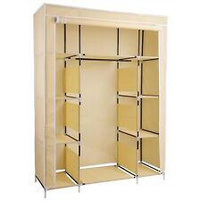"50"" Triple Folding Cloth Fabric Wardrobe Closet Hanging Clothes Storage Cupboard"