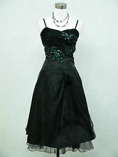 Cherlone Clearance Cheap Plus Size Black Prom Ball Wedding Evening Dress 18-20