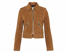 NEW Whistles AW16 Suede Brooke Biker Jacket SIZE 8 RRP£295