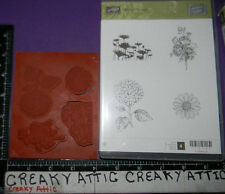 STAMPIN UP BEST OF FLOWERS 4 CLING RUBBER STAMPS HYDRANGEA ROSES DAISIES